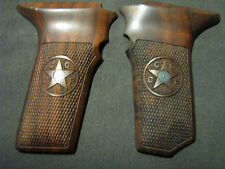 Tokarev TT33 Fine Black Walnut Checkered Pistol Grips WITHOUT SAFETY, w/Logo NEW