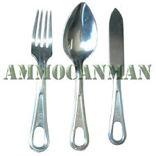 Mess Kit Fork, Knife, and Spoon (3 Pack) Previously Issued