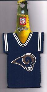 NFL St. Louis Rams Koozie Logo Bottle Jersey Koozie