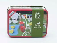 Childrens Travel Toy - Farm Set in a Tin – Wooden Set