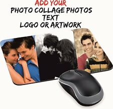 PERSONALISED MOUSE MAT PAD PRINT COLLAGE PHOTO LOGO CUSTOM TEXT GIFT PRESENT