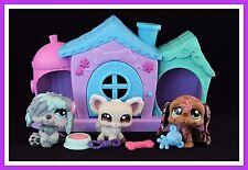 Littlest Pet Shop Chihuahua #1199 Sheepdog #1513 Basset #1358 Dog House Gift Bag