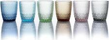 Saudè Evviva - Mozart - 6 bicchieri Acqua - h cm 10 - 6 colori - Rivenditore