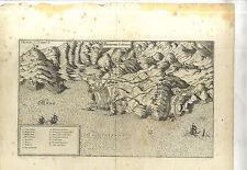 GRAVURE ANCIENNE CARTE GEOGRAPHIQUE COLLIOURE PYRENEE ORIENTALE BELAGERUNG 17e