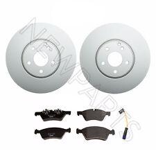 For Mercedes E550 4Matic W211 Set of Front Ate Brake Rotors Textar Pads Sensor