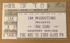 1989 THE CURE CHICAGO CONCERT TICKET STUB ROBERT SMITH BOYS DON'T CRY LOVESONG B