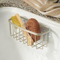 InterDesign Axis Sink Caddy, Metal Kitchen Sink Organiser, Ideal as Dish Sponge