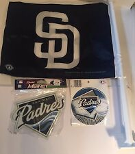 San Diego Padres Auto Car Flag Banner Magnet & Vinyl Decal Sticker MLB Baseball