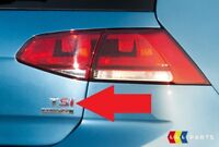 NEW GENUINE VW GOLF TIGUAN TOURAN 2003-2011 REAR RED TSI LETTERING BADGE EMBLEM