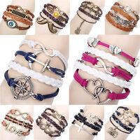 Damen Herren Vintage Armband Bracelet Surferarmband Kette Trendy Geschenk WOW