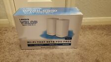 Linksys Velop AC2400 Intelligent Mesh Dual-Band Whole Home Wi-Fi 2-Pack VLP0102