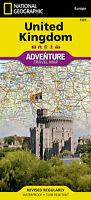 UK Adventure Map National Geographic  United Kingdom England Wales Scotland