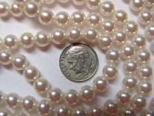 250 PIECES SWAROVSKI CRYSTAL BEADS/PEARLS #5810 - 7mm - CRYSTAL WHITE PEARL