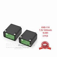 2x KNB-12 KNB-12A Battery for KENWOOD TK-250 TK-350 TK-253 TK-353 TK-259 TK-359