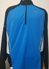 Nike Running Dri-Fit 1/4 Zip Running Mesh Breathable Zip Pocket L/S Shirt Size L