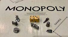Vintage 1961 Monopoly Tokens, Metal, circa 1961, Lot of 7 Plus Dice