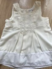 NEW M&S AUTOGRAPH GIRLS IVORY TUNIC Age 11 Lovely embroidery & beaded detail
