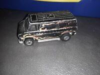 Vintage Hot Wheels Original Redline 1974 Black Van With Flames