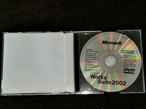 Microsoft Works Suite 2002. ver.6.0 English.CD With Product Key.