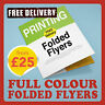 Folded Flyers Menu Leaflets Printed Full Colour A3 A4 A5 170GSM 130GSM 300GSM