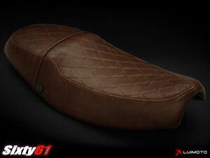 Triumph Thruxton Seat Cover 2004-2015 Dark Vintage Brown Luimoto Leather Look