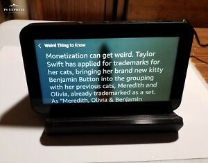 Amazon echo show 5 & 8 tilting STAND 3D printed view at multiple angles (Black)