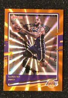 2020-21 PANINI DONRUSS LEBRON JAMES ORANGE LASER REFRACTOR # 12 SP LAKERS RARE!