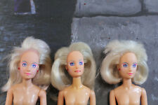 3 Original Jem and the holograms Jerrica dolls from 1986 bendable bait dolls