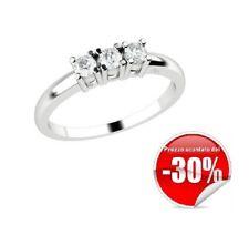 Anello trilogy donna Elli's EL025618 oro bianco 18kt diamanti 0,18 ct garanzia