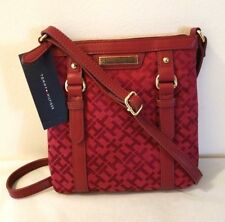 New Crossbody Bag Red Burgundy Purse Messenger Saddle Tommy Hilfiger Logo