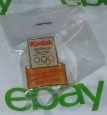 Vintage RARE Back to Athens 1896-2004 Kodak Olympics New in Package Brooch PIN