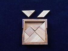 Tangram 7 piece square wood brain teaser puzzle medium