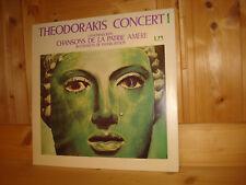 MIKIS THEODORAKIS Chansons de la Patrie Amere Concert 1 MARIA FARANDOURI LP MINT