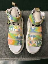 Dr. Martens Clarissa II Multi Colored White Tie-Dye Sandals Women's Size 8