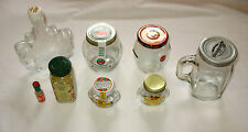 Lot of 8 bottles jars, Maple Syrup Leaf, Honey, Marmalade, Jelly, Tabasco, Spice