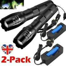 Tactical Torch Super Bright Powerful Police 990000LM Lamp T6 LED Flashlight Set