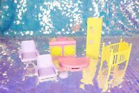 Vintage My Little Pony PARADISE ESTATE Parts Kitchen Chairs Crib G1 MLP BE072