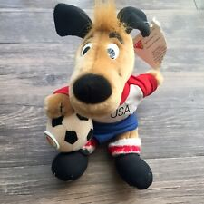 NWT Dakin Plush Toy MasterCard 1993 USA Soccer Dog Hand Crafted