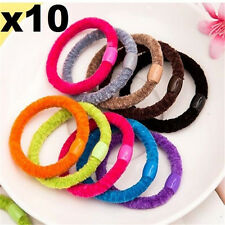 10PCs Sweet Candy Colors Cotton Hair Ties Band Rope Ponytail Holders ~10PCs~ ♫