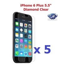 """5 X iPhone 6 Plus 5.5"""" Bling Diamond Sparkling Glitter Shimmer Screen Protector"""