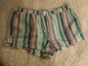 So Soft Linen Shortie Lounge Shorts Size XL NWT