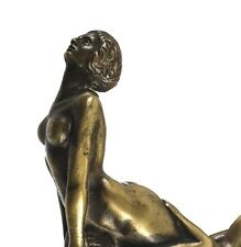 Rare Horia Miclescu Bronze Erotic Nude Figural Walking Stick Cane Handle, c 1930