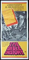 THE BIBLE AS HISTORY Original Daybill Movie Poster Religious Documentary