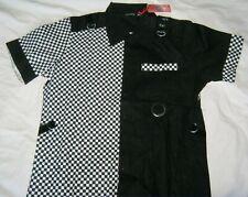 Checkerboard Shirt. Punk short sleeve Dead Threads L Ska