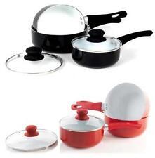 Ollas y cacerolas de cocina de cerámica color principal rojo