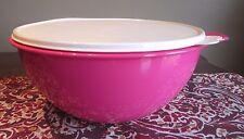 Tupperware Regular NEW  Thatsa Bowl  7.8 L 32 cups Pink Punch HOt