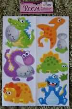 Dinosaur Wall Stickers Childrens Kids Girls Boys Bedroom Decals Stickarounds