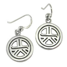 Sterling Silver Tam A Ra Sha Symbol Earrings - Energy Grounding Reiki Jewelry
