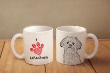 """Lowchen - ceramic cup, mug """"I love"""", AU"""