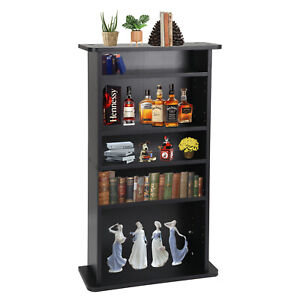 "CD DVD Multimedia Cabinet Storage Freestanding, 36 x 19 x 7"" Black Luxury Style"